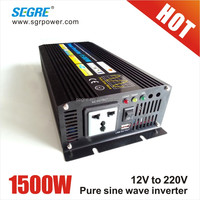 solar system 12v 220v 1500w ac to dc power inverter for home use