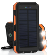 PowerGreen Dual Outputs Solar Power Bank Waterproof Solar Charger for Smartphone
