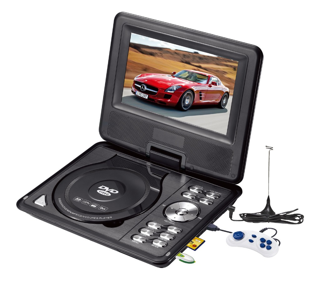 Portable DVD With LED Screen With TV Tuner/Card Reader/USB/Game PDVD MP3 Video Home DVD Player