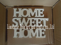 Big size white wooden MDF letters for home decoration wood crafts