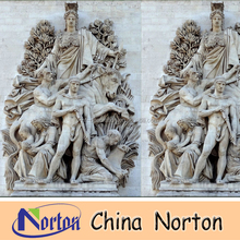hand carved marble wall relief sculpture NTMR-R184