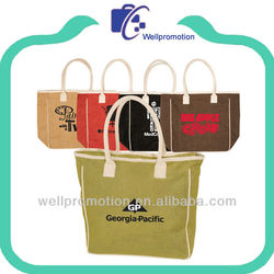 wellpromotion promotional trendy bag canvas tote bag with gusset