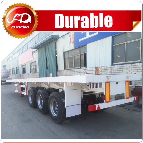 2016 hot Sale 2-4 axles Flatbed Semi Trailer with container Twist Locks and Side Walls Optional 30-100Tons
