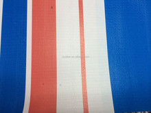 High Quality Striped Colors PVC Tarpaulin For Tent, Car Cover, Sunshade etc