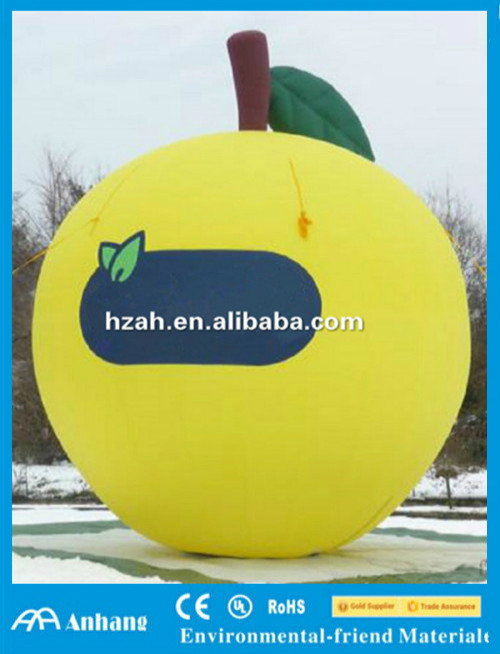 Giant Inflatable Yellow Apple Model/ Inflatable Giant Artificial Fruit