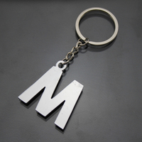personalized low mold fee alphabet letter design key chain factory