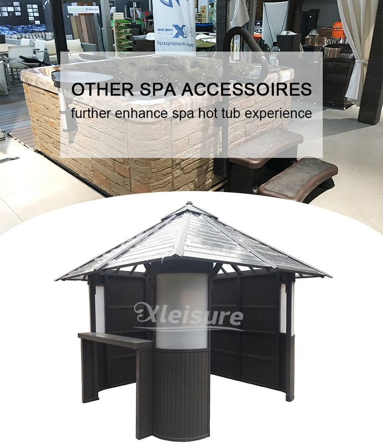 Commercial Spa Tub Accessories Strong  Wooden Gazebo For Hot Tub Sturdy