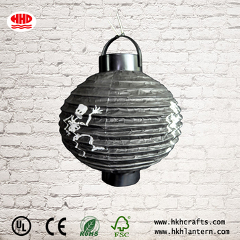 Small round battery operated chinese paper lanterns for halloween decoration
