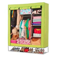 Huge non-woven fabric wardrobe with cover