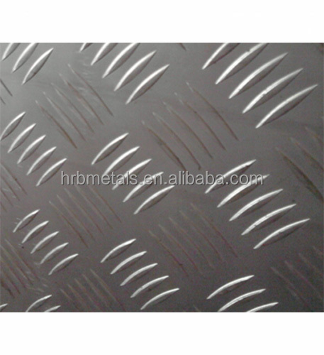 5052 T 5bars anti skidding decking on boat aluminum diamond plates tread plate for shipping deck
