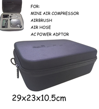 custom Large size shockproof polymer fabric Hard EVA Tool Case for mini airbrush compressor kits tg216