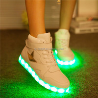2014 international tide most star single shoes with LED lamp glow