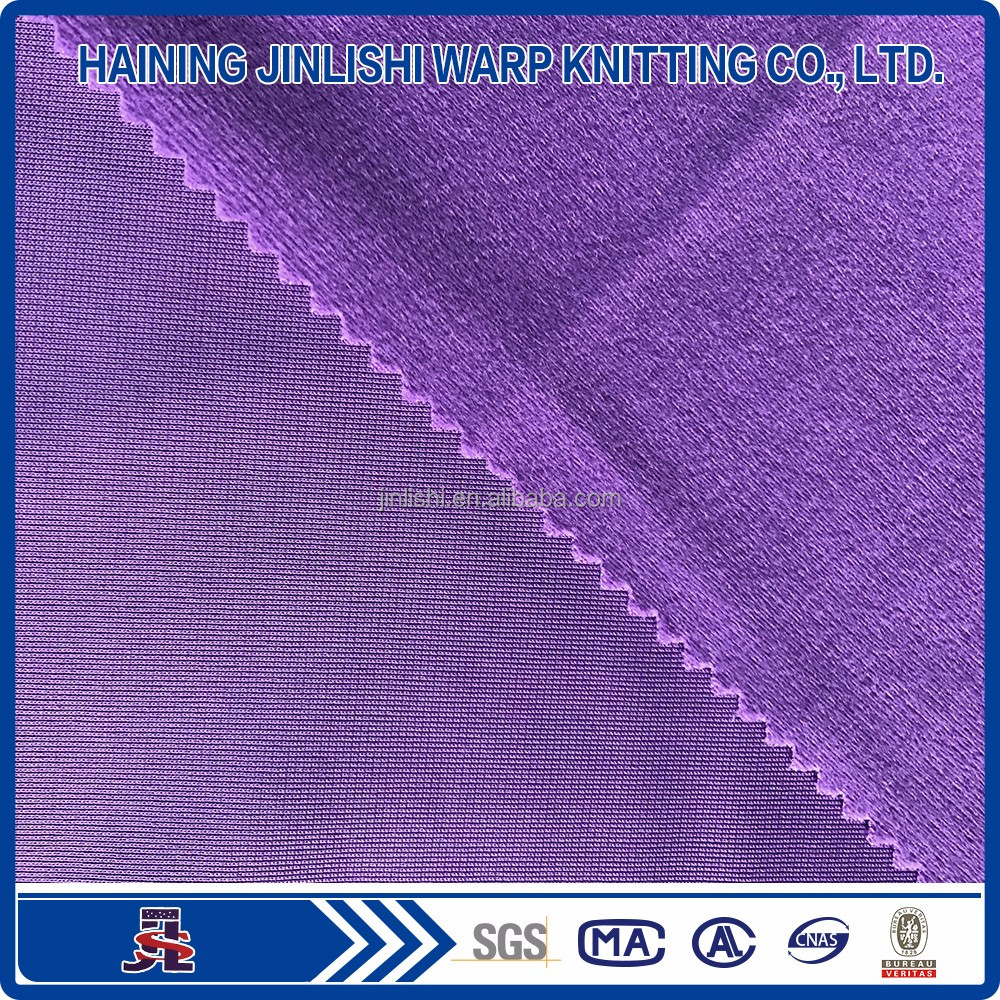 tricot dazzle lining microfiber brushed polyester fabric