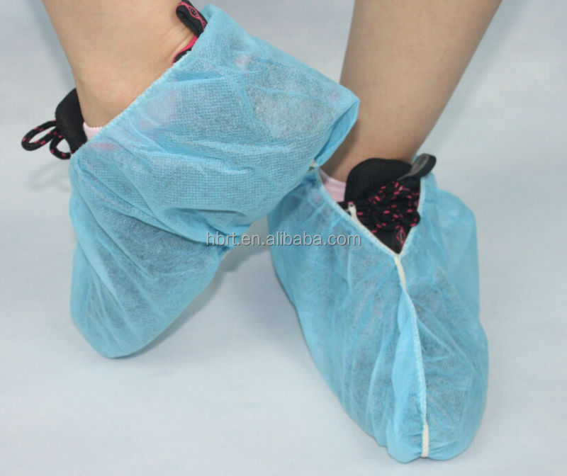CE Sterile Waterproof Blue Disposable PE/CPE Plastic Shoe cover