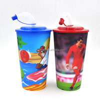 logo printing mug/cup good promotional mug with straw