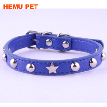 2017 hemu high quality studded pu leather dog collar adjustable Buckle pet store