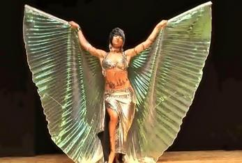 Egyptian Crystal Shining Isis Wings Belly Dance