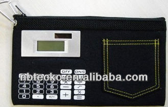 Stationery bag with calculator for promotion gift