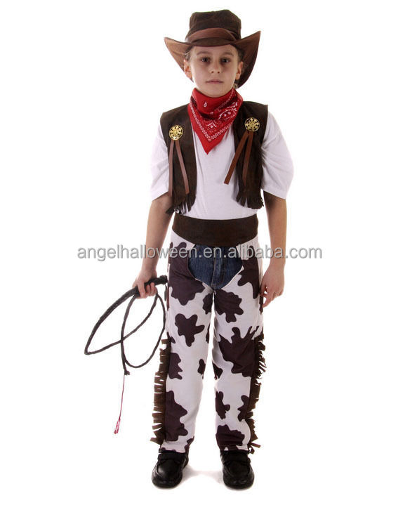 Wholesale Halloween Children Cosplay Kids Cowboy Costume Cosplay Clothes Fancy Dress Costumes for KidsAGQ4042