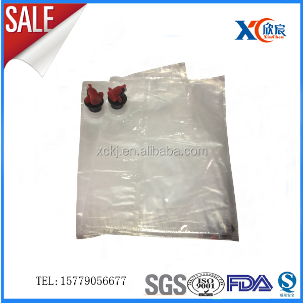 sell 1L-220L disposable plastic bag for juice bag in box for liquid / water / wine/oil