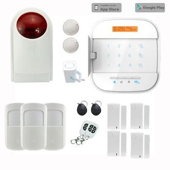 2016 smart alarm system work with ip camera wireless siren wireless keypad smart socket smoke. Black Bedroom Furniture Sets. Home Design Ideas
