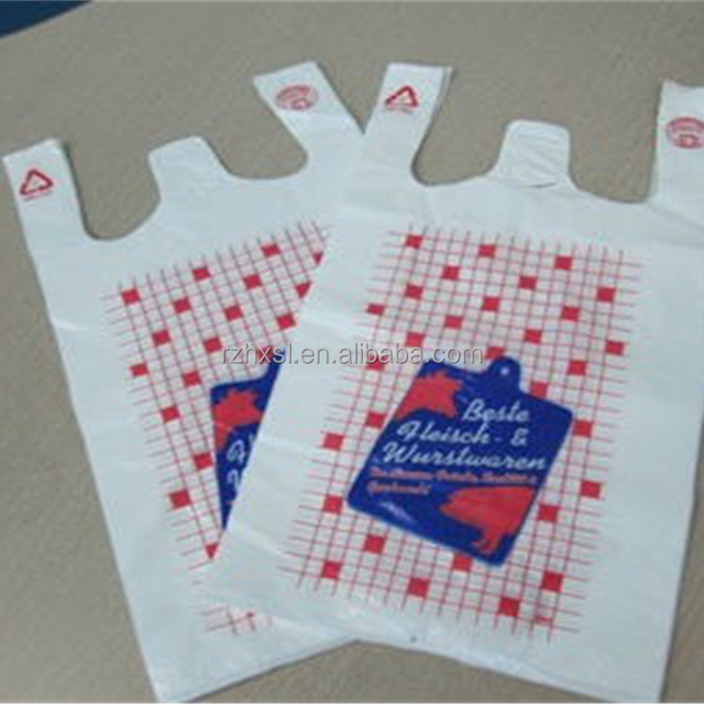 Hdpe/ldpe shopping die cut handle bags printing t-shirt plastic shopping bag biodegradable shopping plastic bags