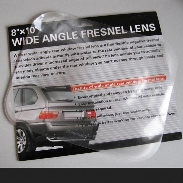 250*200 car rear window view pvc wide angle fresnel lens
