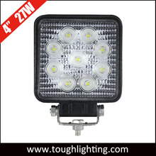 Emark approved square IP67 27W led auto light for trucks