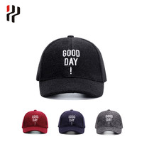 high quality and best price for men fashion color plain blank promotional baseball cap for winter