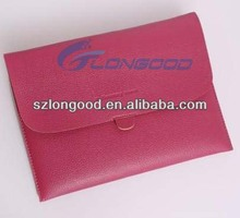 Hot Pink PU leather Envelope Buckles Sleeve Carry Case Bag for iPad 2 3 4