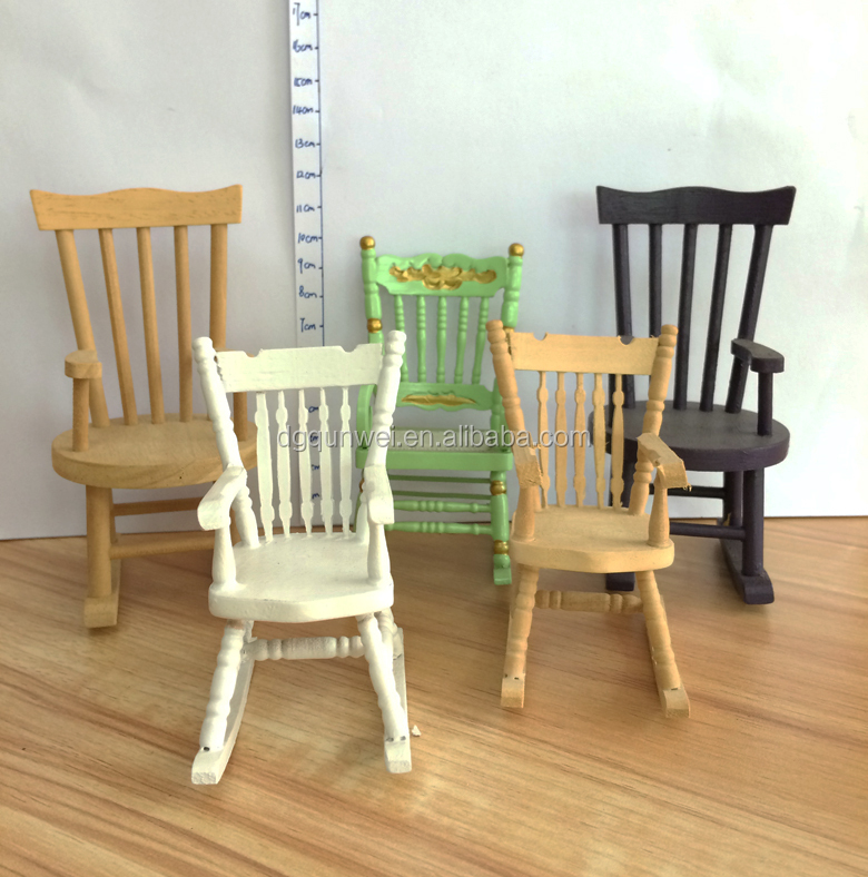 1:12 Scale miniature Dollhouse Rocking Chair Wholesale Dollhouse Miniature Furniture QW60290 and QW60541