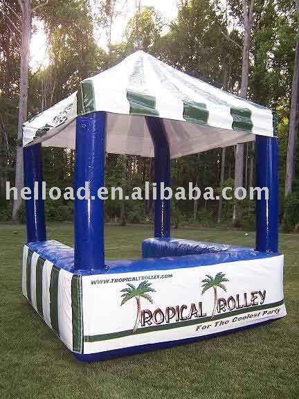 small inflatable kiosk / inflatable tent for advertising
