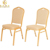 Luxury wedding chair gold metal banquet chair for hotel used