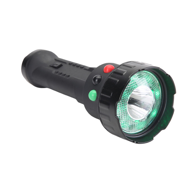 CREE 3W rechargeable led torch light security flashlight warning lighting