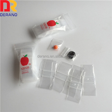 china alibaba LDPE plastic custom printed cheap recyclable clear apple baggies/mini zip lock bag