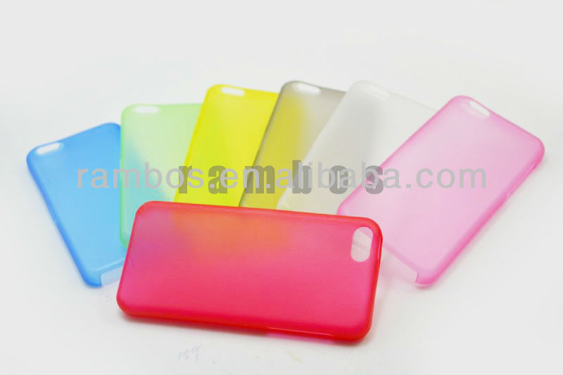 0.3mm Ultra Thin Plastic Matte Hard Case Cover for iphone 5C