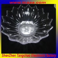 Factory supplier reusable flash led fruit plate plastic plate for bar and club