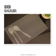 Popular wholesale eco-friendly knife&fork&spoon style plastic PVC placemat