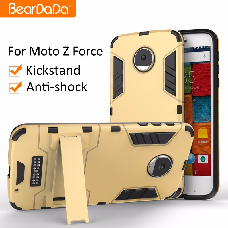 Best Selling Anti <strong>shock</strong> kickstand case cover for moto z force