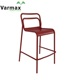 Customized High Quality Restaurant Garden Stackable Aluminum Outdoor Armless High Stool Chairs