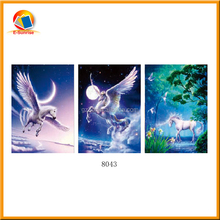 PET lenticular deep 3d flips effect picture of running horses