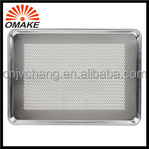 2016 Reasonable Price and High Quality Pie Cake Plate, Metal Oven Electric Oven Bakeware, Perforated Aluminum Sheet Pan