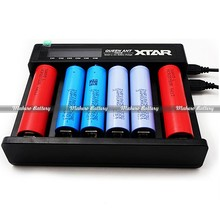 Original Xtar QUEEN ANT MC6 smart Li-ion/IMR/INR/ICR Battery LCD Charger 6 slots 10440 14500 14650 16340 18650 26650 Flat-32650