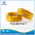 yellow-coated flexible natural gas hose