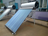 Enameled water storage tank heat pipe solar collector pressurized solar geysers solar water heater