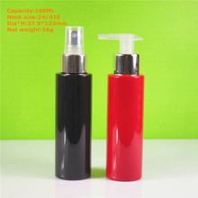 100ml cylinder black hair oil pet bottle