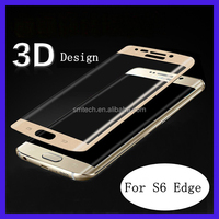 Newest Factory price mobile phone 0.3mm full cover Screen protector for galaxy s6 edge tempered glass