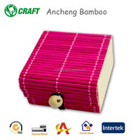 Good quality different size Handicraft creative bamboo gift box storage box