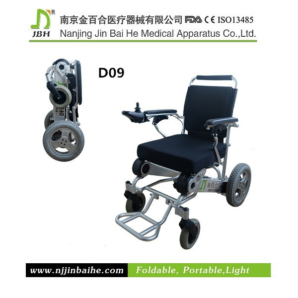 Foldable Aluminum Alloy E Power Wheelchair Factory