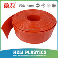 PVC layflat water discharge hose,expandable water hose,pvc flexible pipe 4 inch